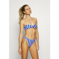 Missguided STRIPE BANDEAU WITH SCRUNCHIE Bikini blue M0Q81L02E