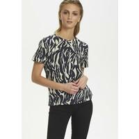 Soaked in Luxury SLSALLIE T-shirt z nadrukiem zebra strokes blue SO921D02W