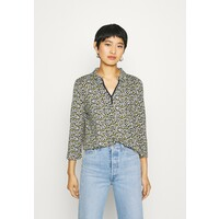 TOM TAILOR BLOUSE WITH COLLAR Bluzka navy/green TO221D13P
