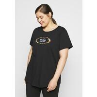 Nike Sportswear TEE FEMME PLUS T-shirt z nadrukiem black NI121D0JX