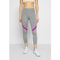 Nike Performance ONE CROP Legginsy iron grey/fire pink/black N1241E102
