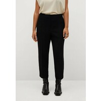 Violeta by Mango LEONOR Spodnie materiałowe schwarz VM421A0HX