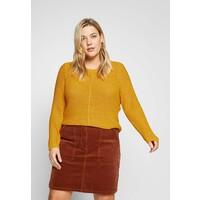 ONLY Carmakoma CARFOXY Sweter golden rod ONA21I01H