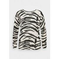 Calvin Klein BLEND ZEBRA SWEATER Sweter black / white 6CA21I01L