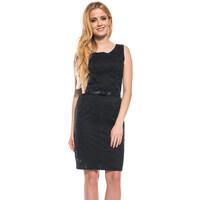 Quiosque Czarna ażurowa sukienka 49N869299