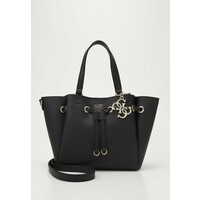 Guess DIGITAL DRAWSTRING BAG Torebka black GU151H2C5