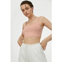 H&M Krótka koszulka 0868059004 Różowy