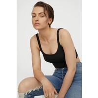 H&M Krótka koszulka 0868059004 Czarny