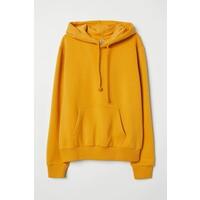 H&M Bluza z kapturem 0572400028 Ciemnożółty