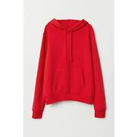 H&M Bluza z kapturem 0572400028 Czerwony