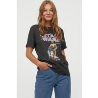 H&M T-shirt z motywem 0762470172 Ciemnoszary/Gwiezdne wojny