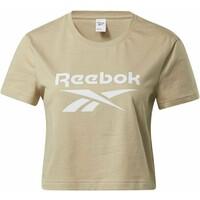 Reebok Classic CLASSICS BIG LOGO T-SHIRT T-shirt z nadrukiem beige RE021E007