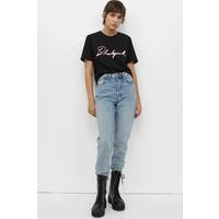 H&M T-shirt z nadrukiem 0936275001 Czarny/Blackpink
