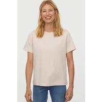 H&M Bawełniany T-shirt 0827968002 Pudroworóżowy