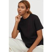 H&M Bawełniany T-shirt 0827968002 Czarny
