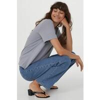 H&M Bawełniany T-shirt 0827968002 Szaroniebieski