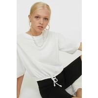 H&M T-shirt ze sznurkiem 0871281005 Biały