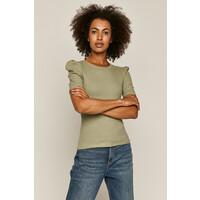 Medicine T-shirt damski w prążki turkusowy RS20-TSD0A8_06X