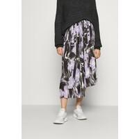 Who What Wear PLEATED ASYMM MIDI SKIRT Spódnica trapezowa lavender WHF21B00W