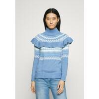Who What Wear FAIRISLE RUFFLE Sweter blue WHF21I00G