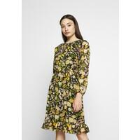 Wallis Petite GARDEN FLORAL FRILL FIT AND FLARE DRESS Sukienka letnia black WP021C07Q