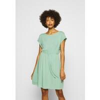 TOM TAILOR DENIM OVERCUT SHOULDER DRESS Sukienka letnia dust green TO721C0BJ