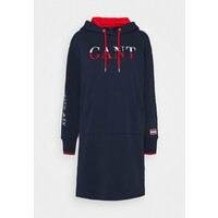 GANT GRAPHIC HOODIE DRESS Sukienka letnia classic blue GA321C04M