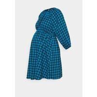 Missguided Maternity PUFF SLEEVE GINGHAM DRESS Sukienka z dżerseju blue M5Q29F00I