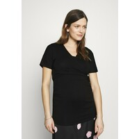 Dorothy Perkins Maternity PLAIN SHORT SLEEVE NURSING BALLET WRAP T-shirt basic black DP829H01A