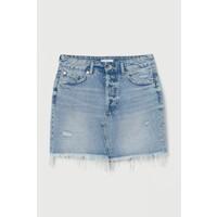 H&M Spódnica dżinsowa 0777099001 Jasnoniebieski denim