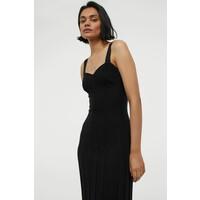H&M Dzianinowa sukienka 0946348001 Czarny