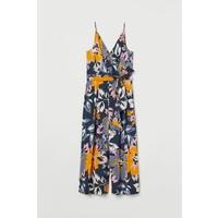 H&M Kombinezon 3/4 0836364002 Granatowy/Duże kwiaty