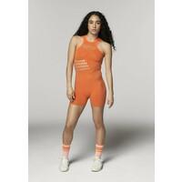 adidas by Stella McCartney TRUESTRENGTH WARP KNIT ONESIE SHORTS Kombinezon gimnastyczny orange AD741K00C