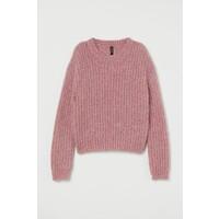 H&M Brokatowy sweter 0782446003 Różowy