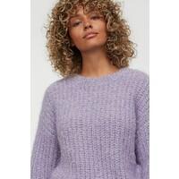 H&M Brokatowy sweter 0782446003 Jasnofioletowy/Brokat