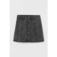 H&M Trapezowa spódnica 0674606057 Czarny/Sprany