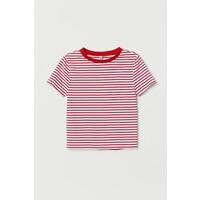 H&M Top w prążki 0624486090 Biały/Czerwone paski