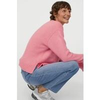 H&M Sweter 0883079007 Różowy