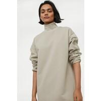 H&M Sukienka dresowa 0951362002 Jasny szarobeżowy