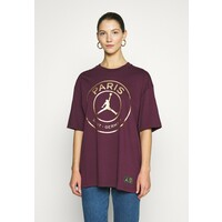 Jordan OVERSIZE TEE T-shirt z nadrukiem bordeaux/metallic gold JOC21D004