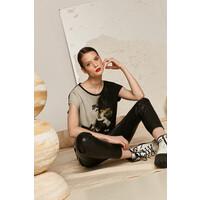 Medicine T-shirt damski z kolekcjji EVIVA L'ARTE z bawełny organicznej beżowy RS21-TSD158_80X