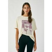 PULL&BEAR T-shirt z nadrukiem beige PUC21D1BY