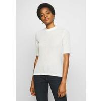 EDITED JAMIA T-shirt z nadrukiem weiß/creme/beige EDD21E01T