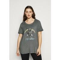 Zizzi MBRITT T-shirt z nadrukiem grey washed Z1721D0HW