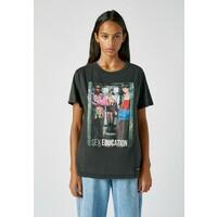 PULL&BEAR T-shirt z nadrukiem mottled dark grey PUC21D1AQ