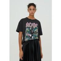 PULL&BEAR T-shirt z nadrukiem mottled dark grey PUC21D1EJ