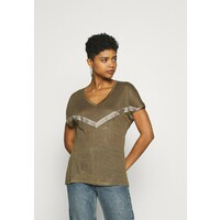 ONLY ONYRITA PREPPY T-shirt z nadrukiem kalamata/gold ON321D280