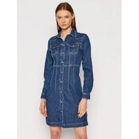Pepe Jeans Sukienka jeansowa Lacey PL952967 Granatowy Slim Fit