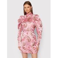 ROTATE Sukienka koktajlowa Kim RT652 Różowy Regular Fit