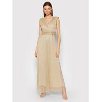 Rinascimento Sukienka wieczorowa CFC0104690003 Złoty Slim Fit